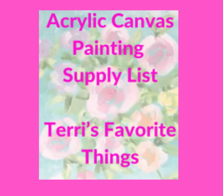 Canvas Painting-Recommended Supplies