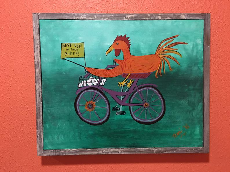 Chicken on a Bicycle Cheep Eggs