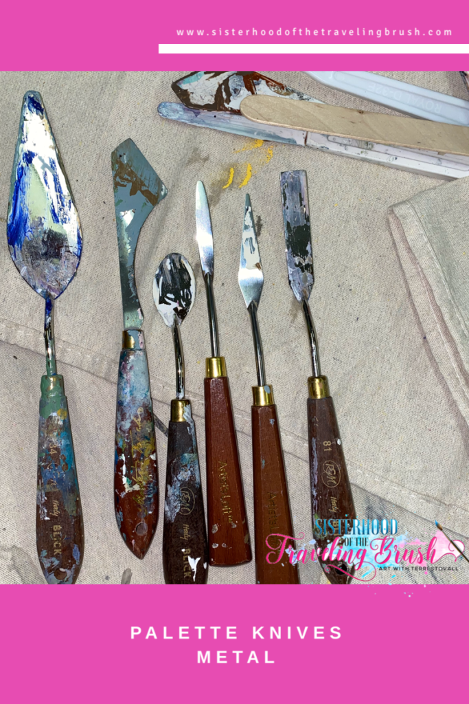 Palette knife painting, good palette knives, palette knife set, abstract painting, mixed media art