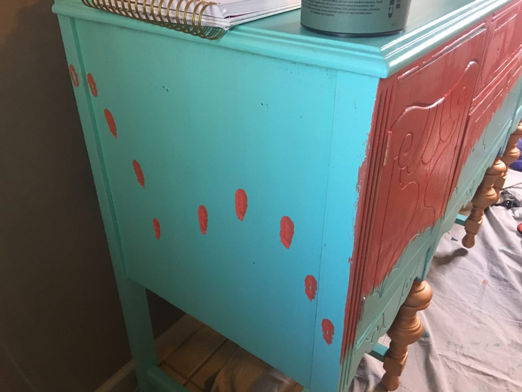 how to paint a design on furniture