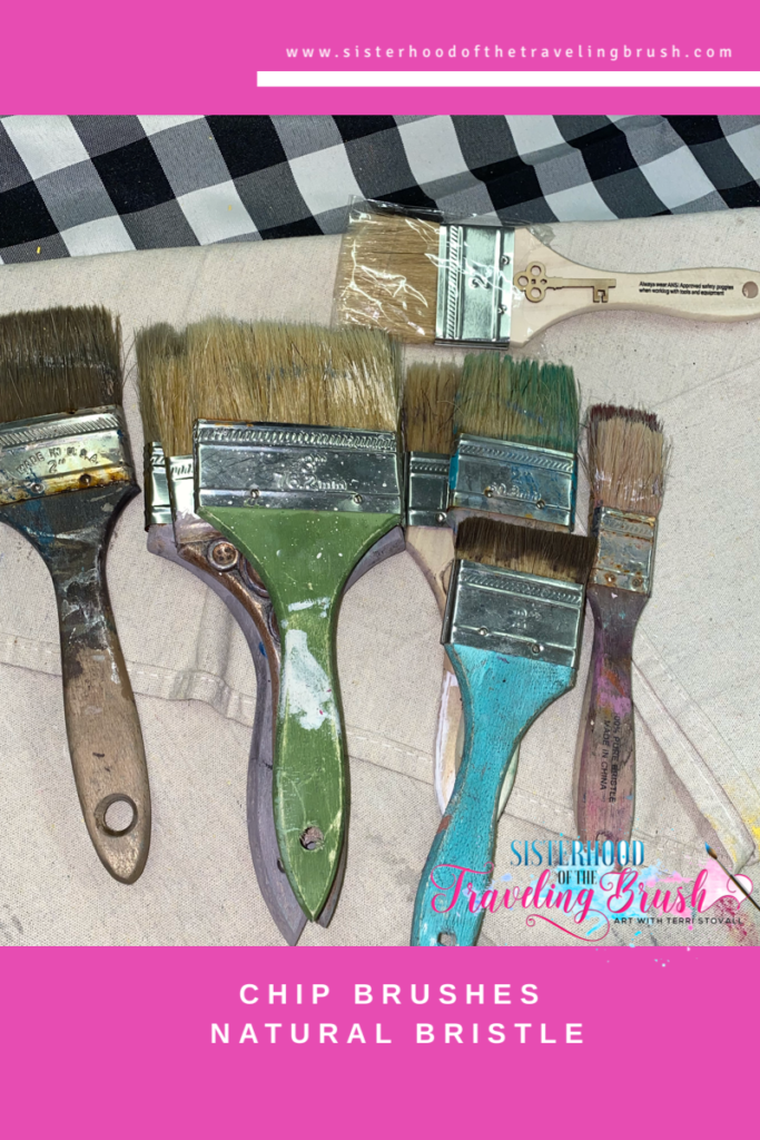 """Disposable paint brushes, chip brush, 3"""", 2"""", 1"""""""