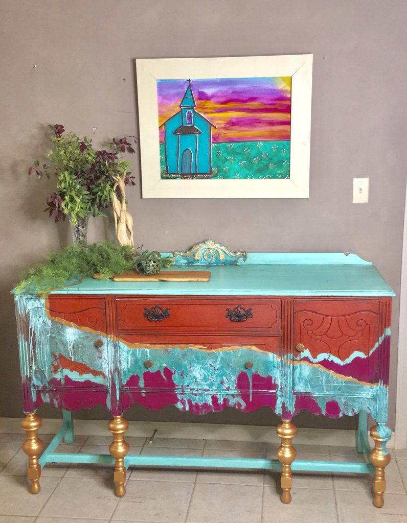 how to stage painted furniture