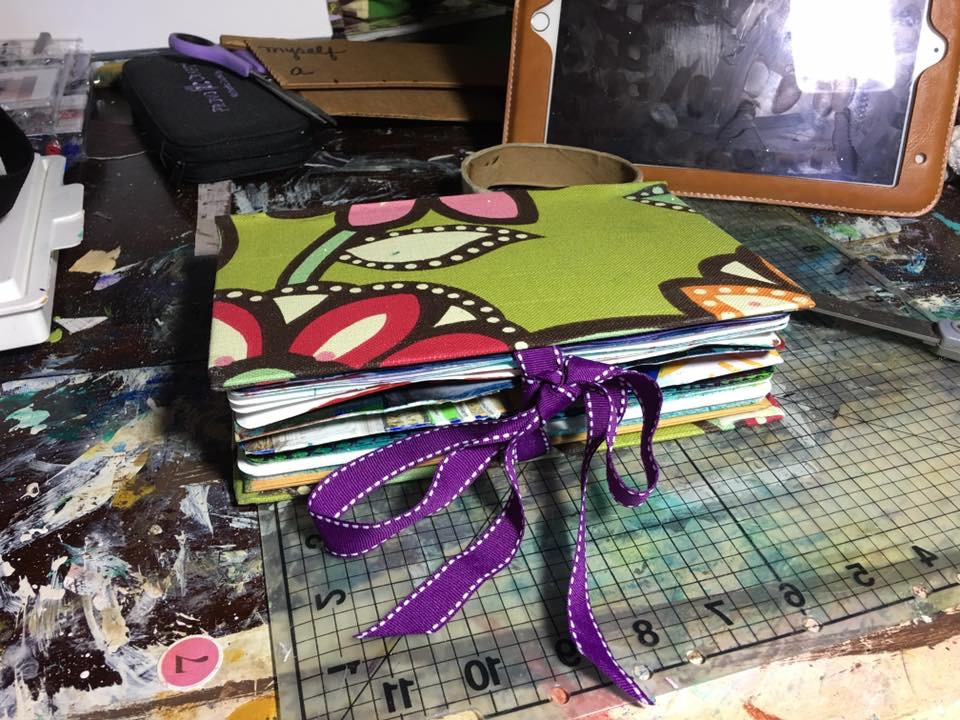 Expanding & Making a New Cover for My Mixed Media Art Journal