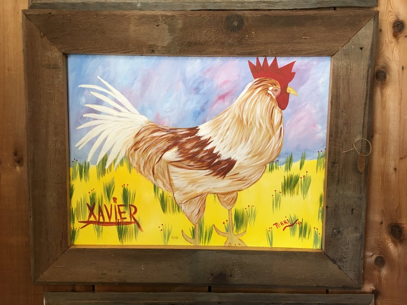 Rooster Painting Xavier