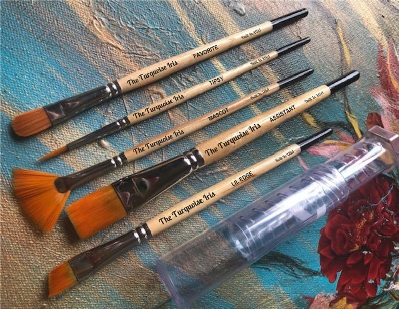 The Turquoise Iris Brushes Magic Pack by Paint Pixie