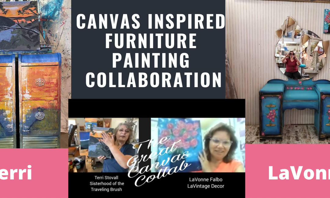 Furniture Painting Inspired by Canvas Art Challenge